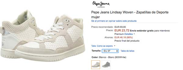 precio zapatillas pepe jeans lindsay woven baratas