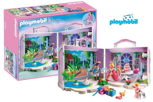 Chollo malet n de cumplea os playmobil princesas barato for Casa maletin playmobil