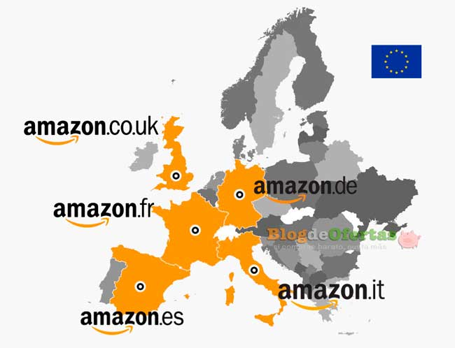 mapa amazon europa ofertas flash