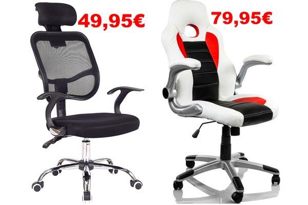 Chollo comprar sillas ordenador baratas desde 49 95 for Sillas de ordenador