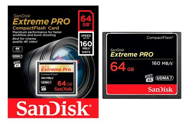 tarjeta ed memoria compact flash sandisk extreme pro 64gb barata descuento rebajas