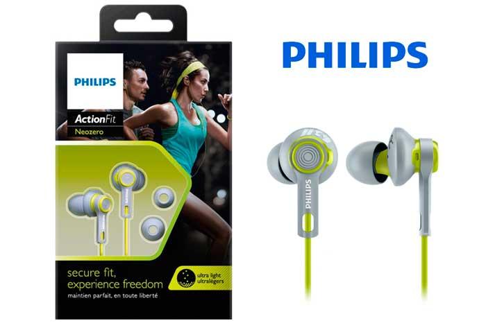 auriculares philips actionfit baratos shq2300lf descuento chollos ofertas