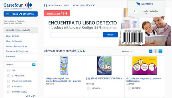 buscador comprar libros de texto barato en 2016 carrefour