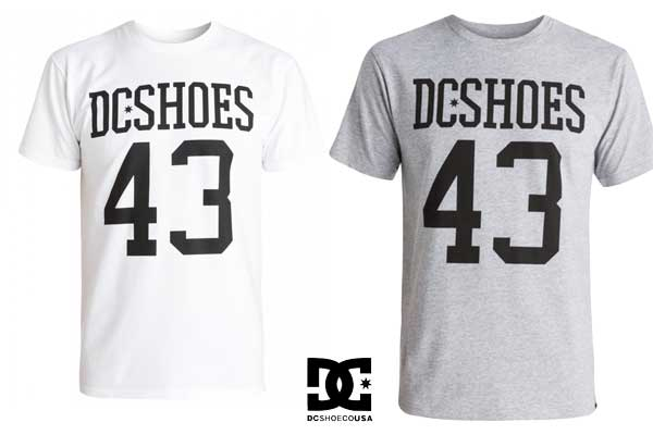 camiseta dc shoes numbers ss