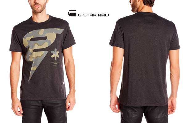 camiseta g star raw oranium