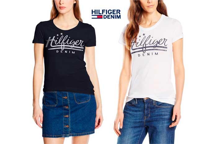 camiseta hilfiger denim basic barata chollos ofertas