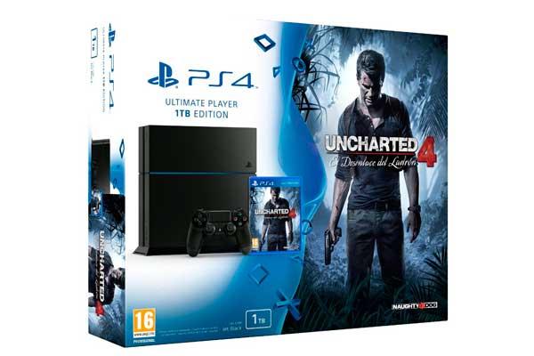 consola ps4 uncharted 4 barata