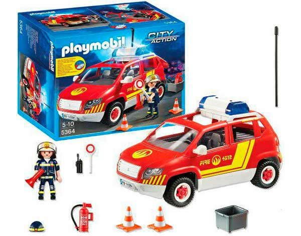 contenido coche jefe bomberos playmobil 5364 barato