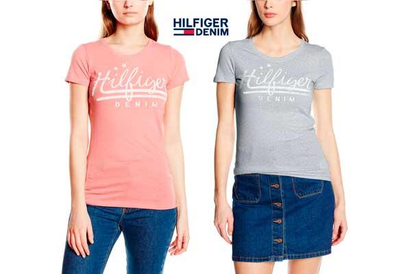 camiseta hilfiger denim basic barata descuento chollos cotton