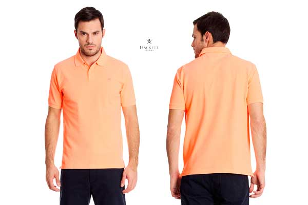 polo hackett london gmt dye naranja