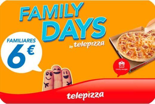 promocion family days telepizza pizzas familiares baratas chollos ofertas
