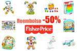 Promoción Fisher Price 50% de reembolso en una selección ¡Hasta 40€!