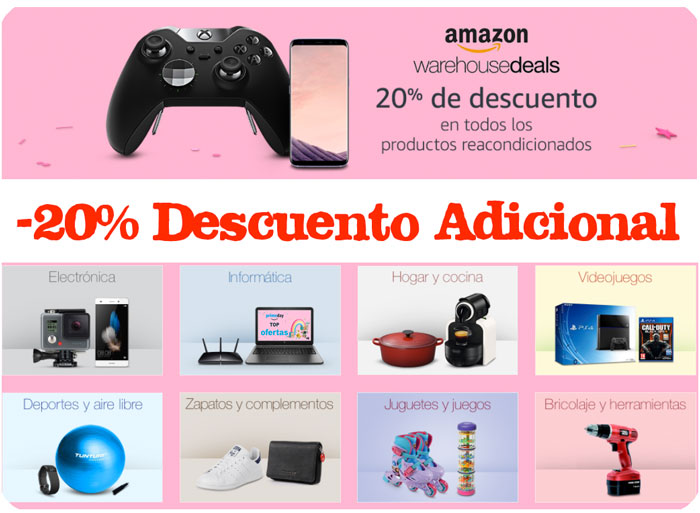 20 descuento adicional productos reacondicionados primeday blog de ofertas bdo