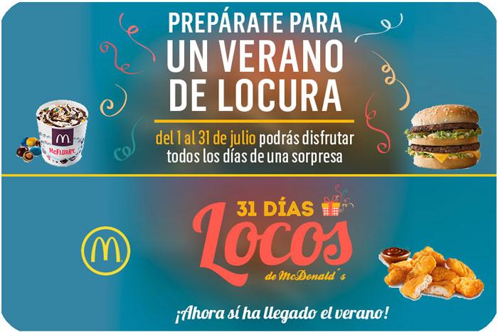 31 dias locos mcdonalds chollos hamburguesas patatas mcflurry rebajas
