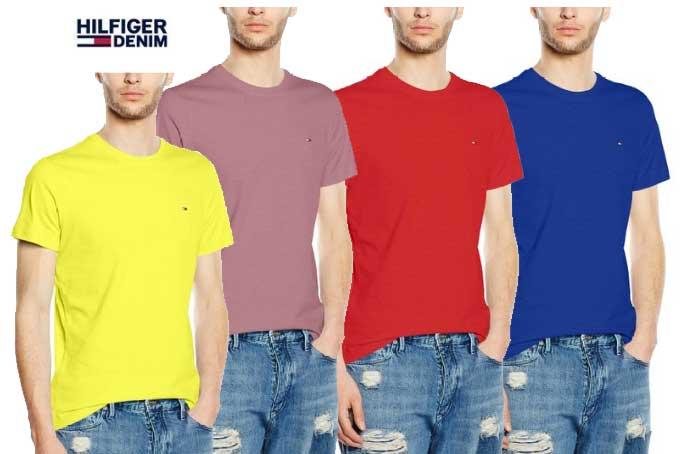 camisetas basicas hilfiger denim barata descuento rebajas blog de ofertas chollos