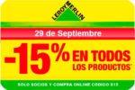Promoción Leroy Merlin -15% Descuento Jueves 29 Septiembre ¡Sólo Socios!