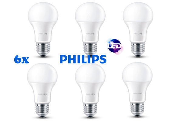 6 Bombillas LED Philips E27