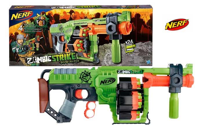 pistola nerf zombie strike doominator barata rebajas blog de ofertas