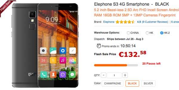 precio elephone s3 barato