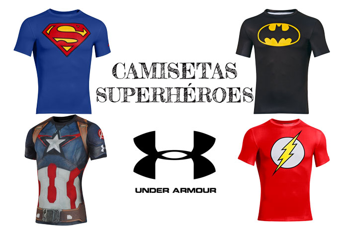 precios camisetas under armour superheroes baratas descuentos chollos rebajas blog de ofertas batman superman capitan america flash