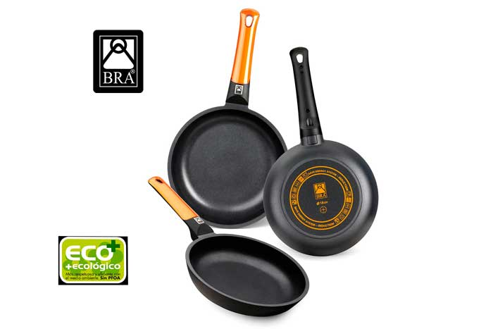 set sartenes bra efficient orange baratas aluminio fundido con antiadherente teflon plus blog de ofertas