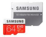 ¡Chollo! Tarjeta Samsung EVO Plus 64GB barata 17,65€ al -60% Descuento