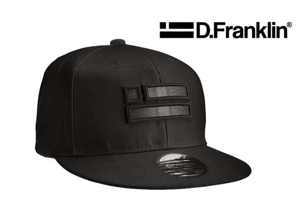 gorra d.franklin black chrome