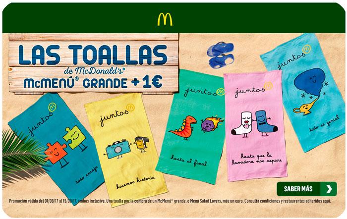 promocion toalla mcdonalds chollo rebajas menu grande euro blog de ofertas bdo