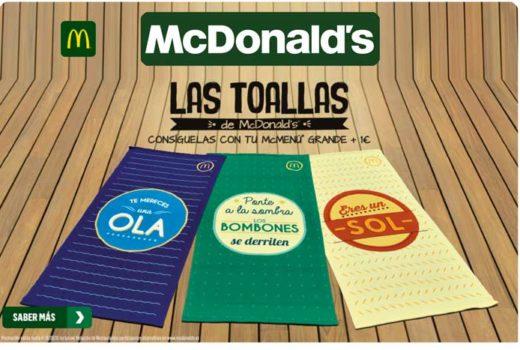 promoción toalla mcdonalds por 1 euro chollo rebajas blog de ofertas descuentos