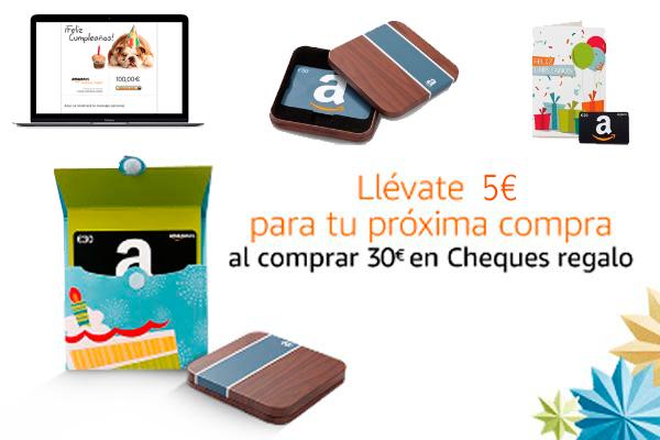 5 euros de regalo para tu proxima compra cheque regalo amazon blog de ofertas BDO