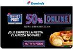 Domino´s Fest con 50% Descuento en TODO Domino´s Pizza Online