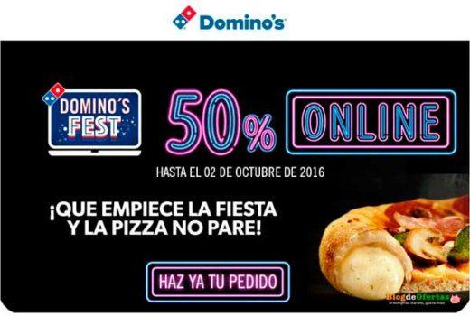 domino´s fest 50 descuento en pizzas dominos barato