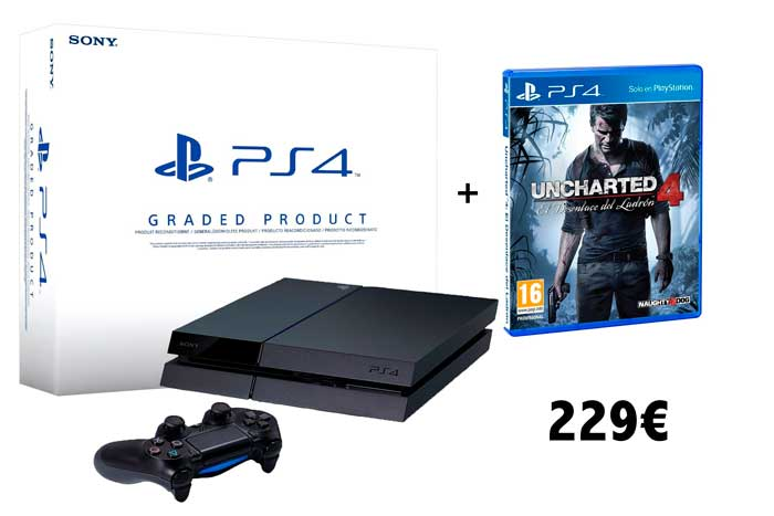 consola ps4 reacondicionada uncharted 4 barata chollos amazon blog de ofertas BDO