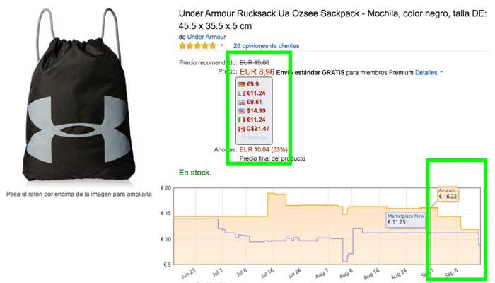mochila under amour rucksack barata grafico precio blog de ofertas