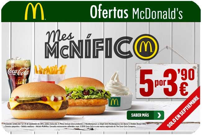 ofertas mcdonalds septiembre chollos restaurantes blog de ofertas BDO