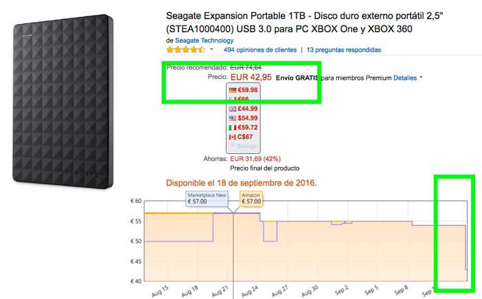 precio disco duro seagate expansion 1tb barato blog de ofertas BDO