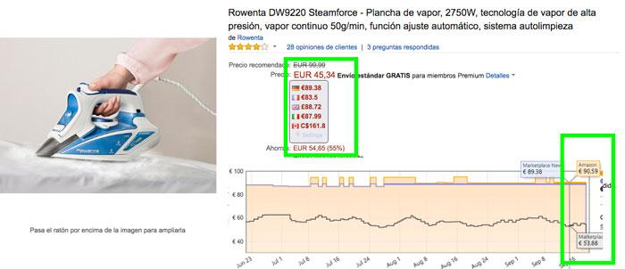 precio rowenta dw9220 barata