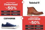 VENTAS PRIVADAS en Converse y Timberland hasta -50% Descuento