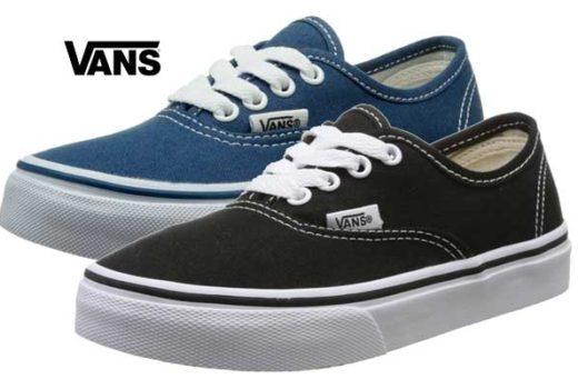 zapatillas vans authentic de niños baratas ofertas descuentos chollos blog de ofertas