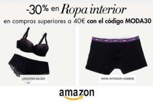 codigo descuento moda30 lenceria ropa interior barata chollos amazon blog de ofertas BDO