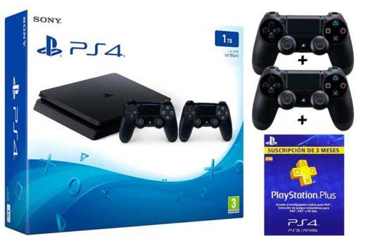 consola ps4 slim 1tb + 2 mandos + 3 meses pns plus barata por sólo 299 chollos amazon blog de ofertas