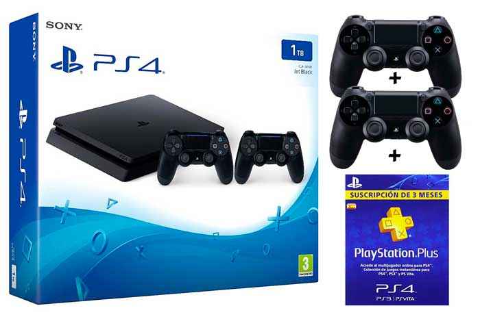 consola ps4 slim 1tb + 2 mandos + 3 meses pns plus barata por sólo 299 chollos amazon blog de ofertas
