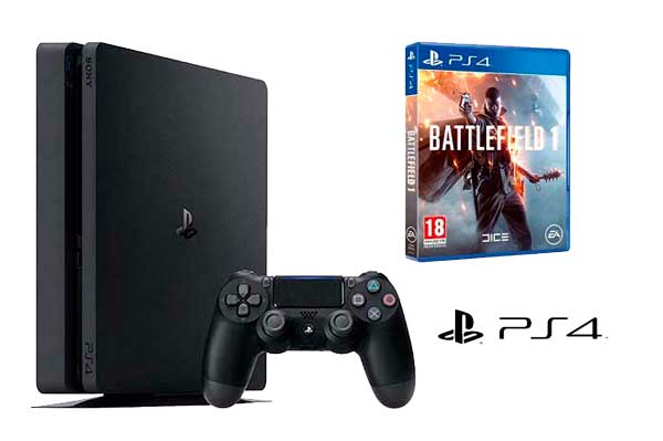 consola-ps4-slim-Battlefield 1-barata-chollos-amazon-blog-de-ofertas-rebajas-descuentos