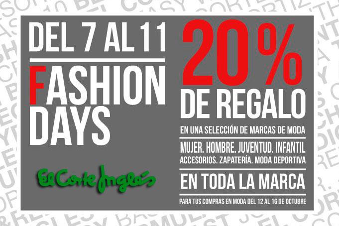 fashion days el corte ingles 20 regalo rebajas chollos blog de ofertas BDO