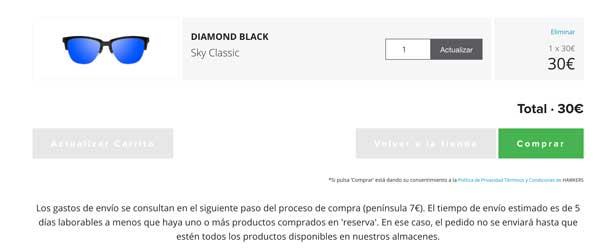gafas Hawkers Diamond Black Sky baratas ofertas descuentos chollos blog de ofertas