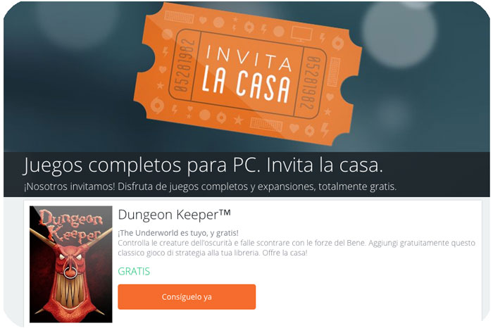 invita la casa en origin blog de ofertas dungeon keeper gratis