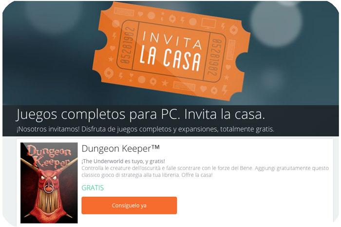 invita la casa en origin blog de ofertas dungeon keeper gratis