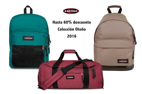 promoción eastpak hasta 60 en colección otoño 2016.