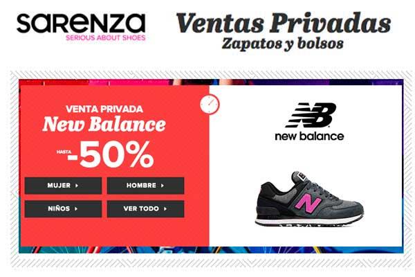 ventas privadas new balance en sarenza