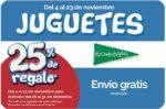 ¡Promoción! 25% Regalo Juguetes El Corte Inglés Del 4 al 23 Noviembre